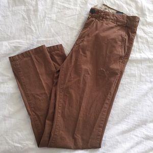 Brown Slim Fit Pants